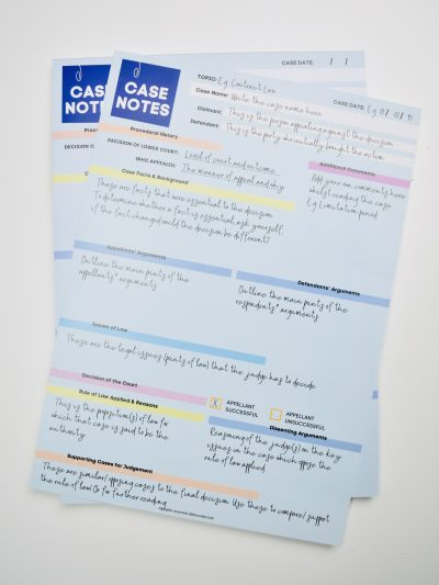 Case Notes Notepad