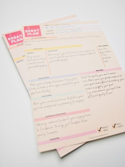 Essay Plan Notepad