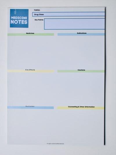 Medicine Notes Notepad